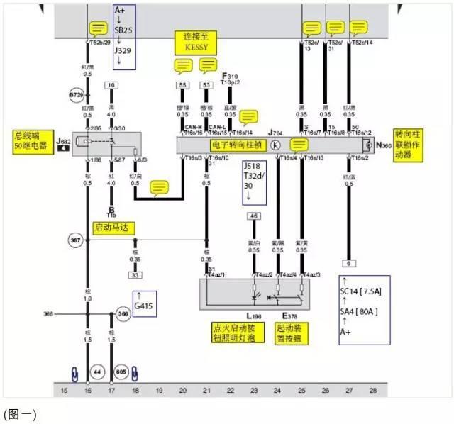 新帕萨特转向黄灯报警,p30530 起动机启动对地短路/断路