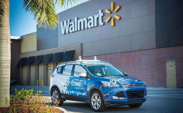 福特与沃尔玛合作 在美测试自动驾驶汽车配送服务