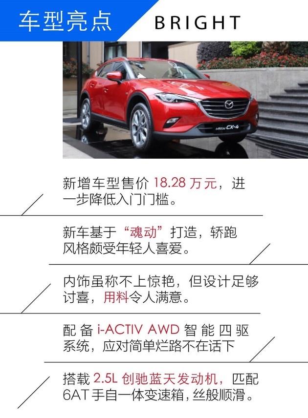 新增2.5L蓝天运动版 试驾马自达CX-4