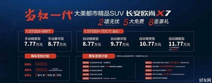 长安欧尚X7上市 售价7.77-11.77万元